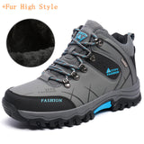 Men Boots Plush Warm Leather Winter Shoes Men Anti-Skidding Winter Boots Men Big Size
