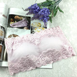 Lace Floral Full Cup Strapless Wrapped Chest Bras