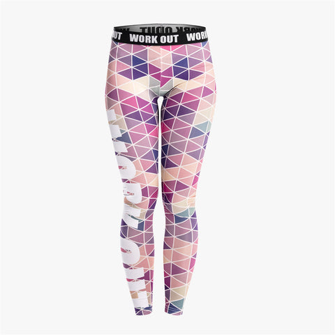 Pink Triangles Printed Fitness Legging