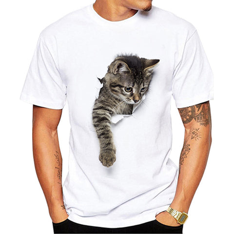 3D Cute Cat Printed T-shirt Men/Women