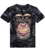 Men 3D T Shirt Animal Short Sleeves Cotton O-Neck Personalized T-Shirt Water Printed Tee Shirt