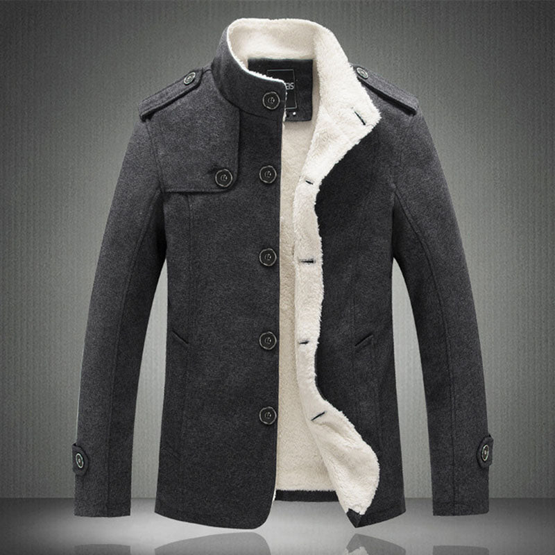 Men's Jacket Stand Collar Mens Coat