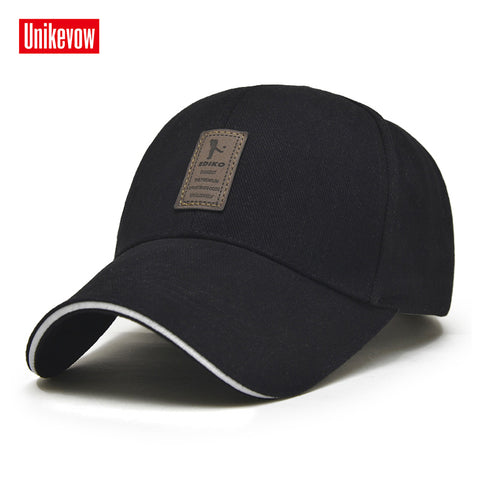 Men's Adjustable Casual Cap Solid Color