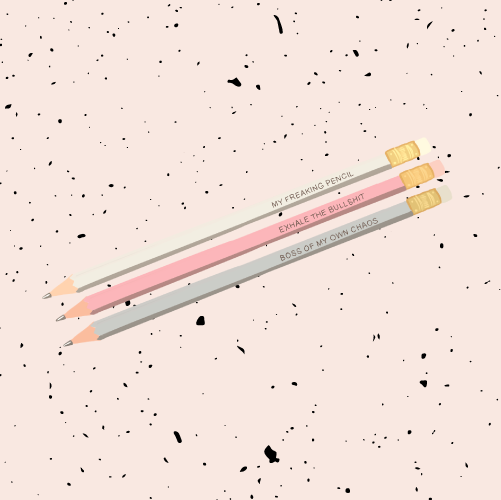 myFREAKINGpencils - Set of 3