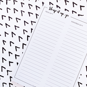 SHOP IT UP Notepad
