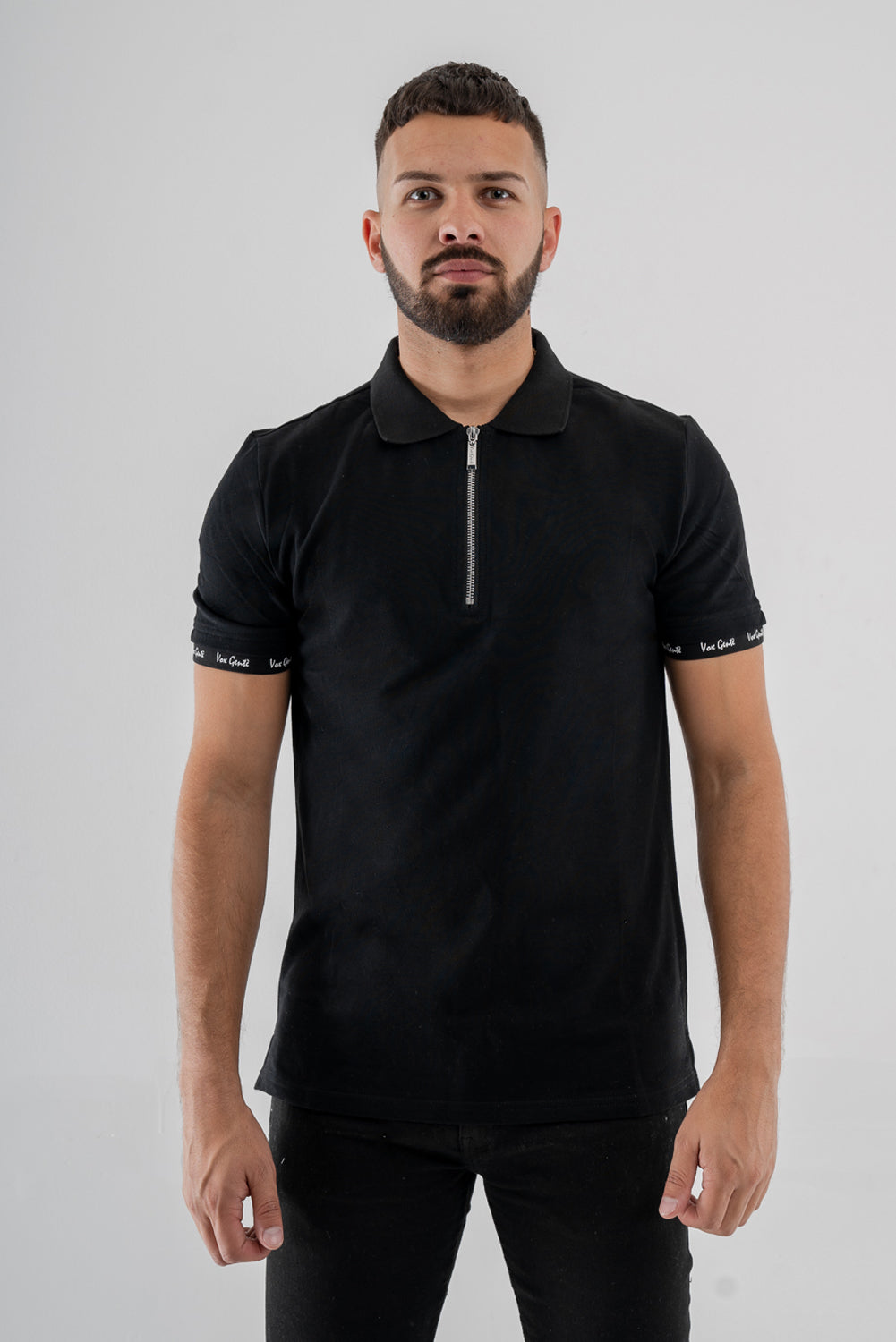 Vox Gente 1/2 Zip Polo Shirt - Black