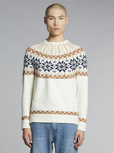 Bellfield Raggi Knit Jumper - Off White