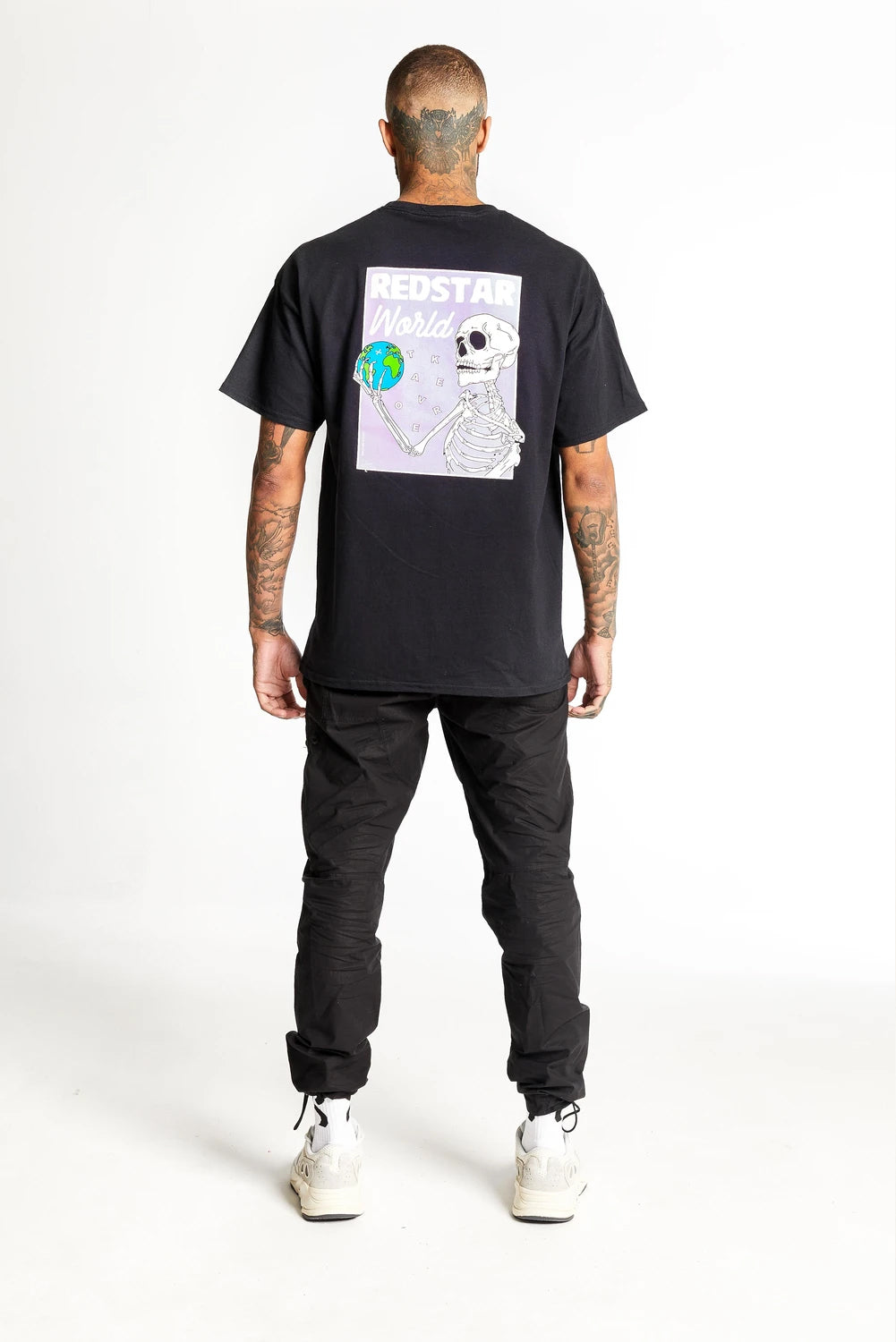 Redstar World Takeover T-Shirt - Black