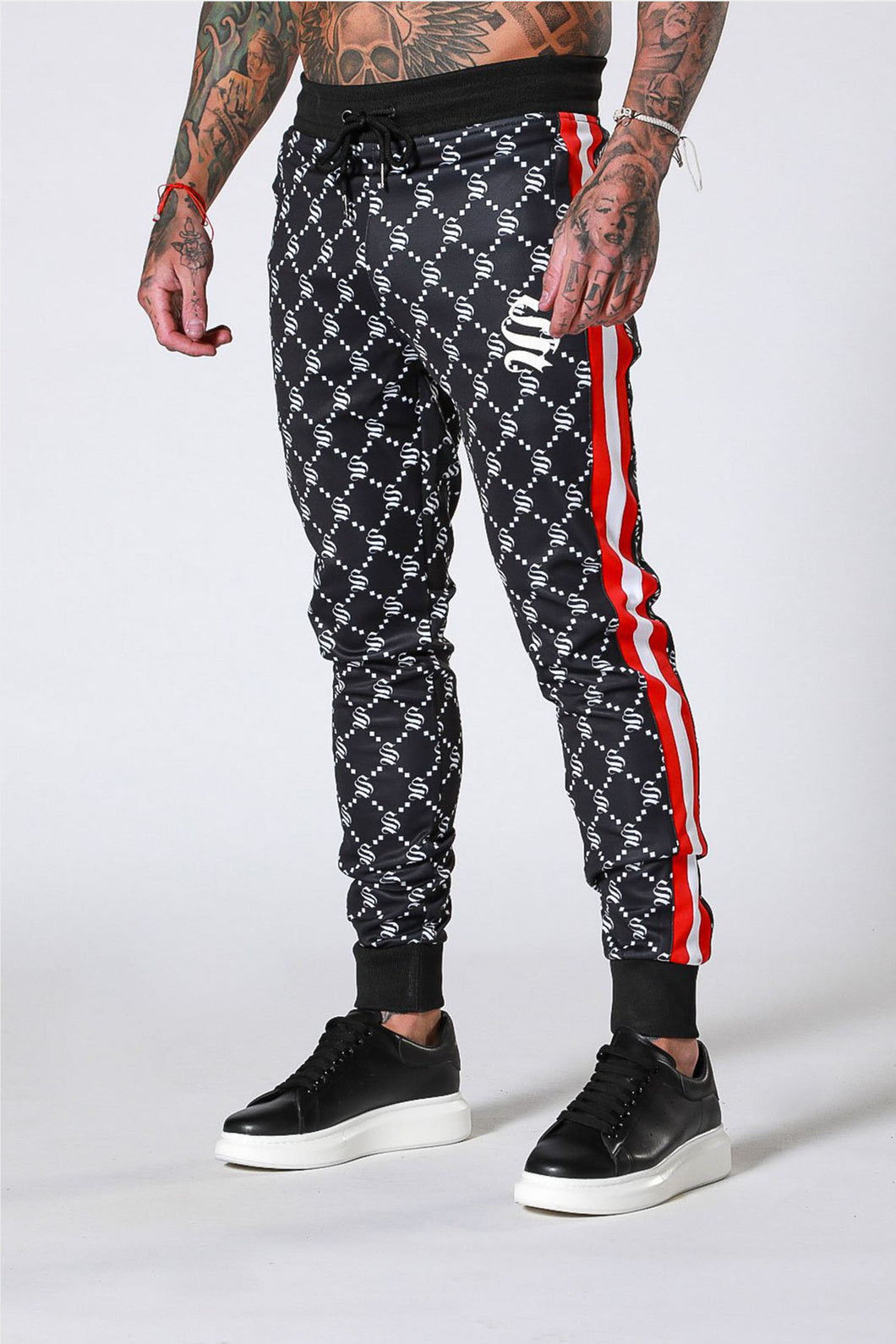 Sinners Attire Monogram Joggers - Black