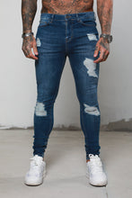 Surreal Ripped & Repaired Skinny Jeans - Blue