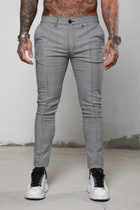 Surreal Prince of Wales Checked Chino - Grey