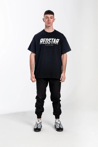 Redstar Front Print T-Shirt - Black