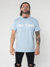 RSC Logo Stripe T-Shirt - Light Blue