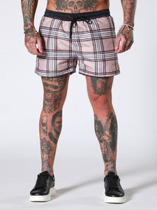 Sinners Attire Check Swim Shorts - Heritage