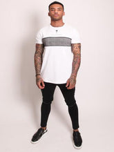 Rose London Plaid Chest T-Shirt - White
