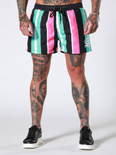 Sinners Attire Swim Shorts - Mint / Pink