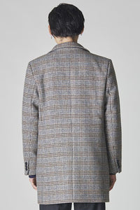 Bellfield Godin Check Crombie Overcoat - Grey