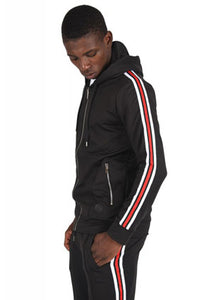 Project X Striped Track Top - Black