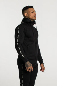 Fresh Couture Poly Tapered Hooded Jacket - Black