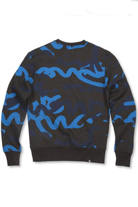 Money Sig Camo Crew - Black / Blue