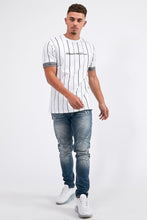 KWD Clifton Pinstripe T-Shirt - White