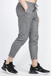 KWD Flick Check Trouser - Grey