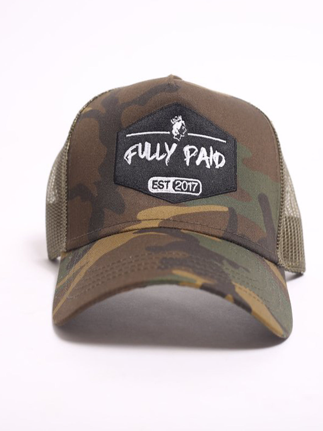 Fully Paid Classic Logo Trucker Cap - Camo
