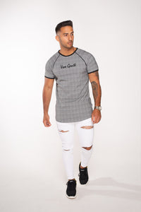 Vox Gente Multi Panel Textured T-Shirt - Grey