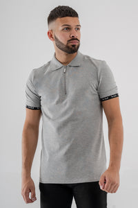 Vox Gente 1/2 Zip Polo Shirt - Grey