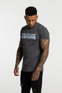 Fresh Couture Large Logo T-Shirt - Grey