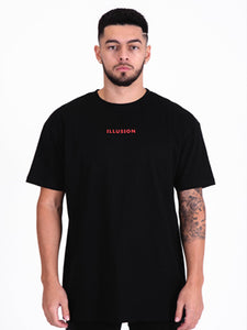 Illusion Oversized T-Shirt - Black