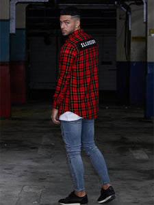 Illusion Check Shirt - Red