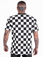 Illusion Checkered T-Shirt - Black / White