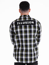 Illusion Check Shirt - Blue / White