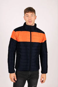 Liquor & Poker St Anton Puffer Jacket - Black / Orange