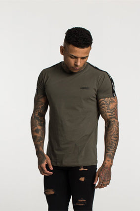 Fresh Couture Tapered T-Shirt - Khaki