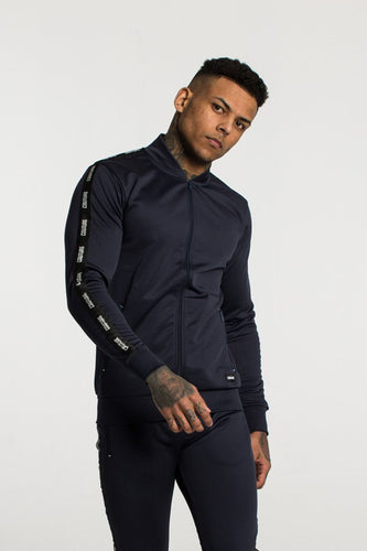 Fresh Couture Poly Tapered Jacket - Navy