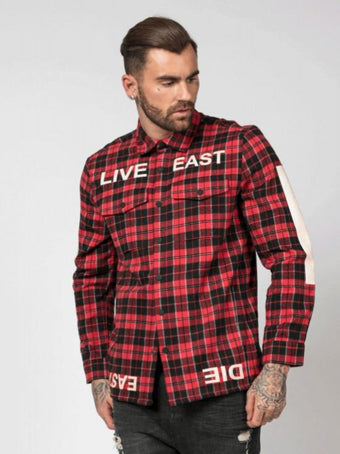 Religion Live East Shirt - Red / Black