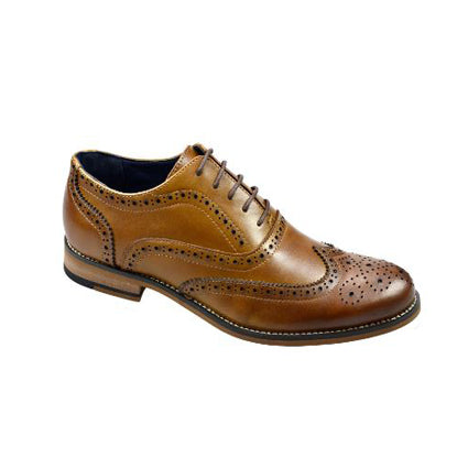 Cavani Oxford Brogue Shoe - Tan