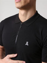 Life & Limb SS Stretch Zip Polo - Black