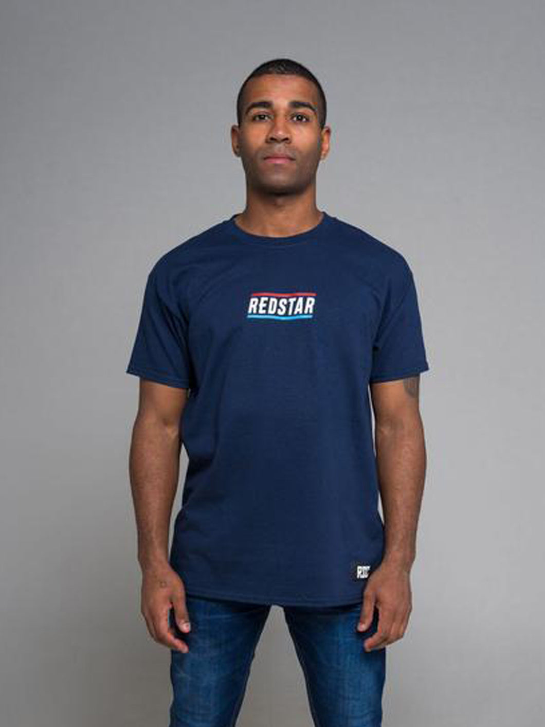 RSC Centre Stripe T-Shirt - Navy