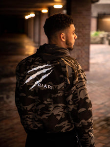 Riari Apparel Reversible Bomber Jacket - Camo / Black