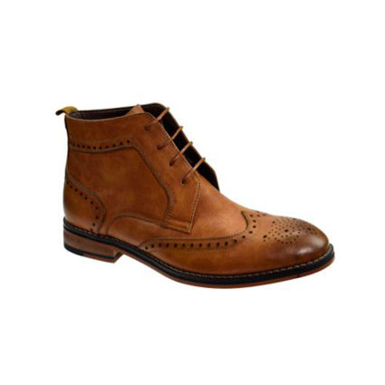 Cavani Sava Brogue Boot - Tan