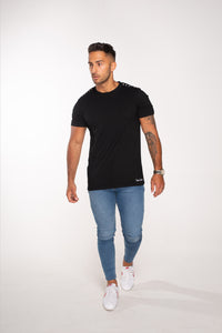 Vox Gente Shoulder Stud T-Shirt - Black