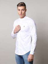 Life & Limb LS Stretch Grandad Sateen Shirt - White