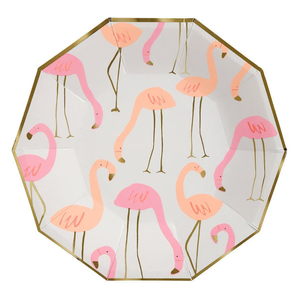 Grandes assiettes flamants roses - Solsken