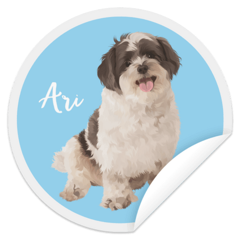 ▶ Custom Pet Circle Sticker