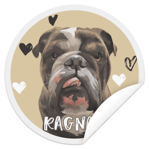 Image of ▶ Custom Pet Circle Sticker