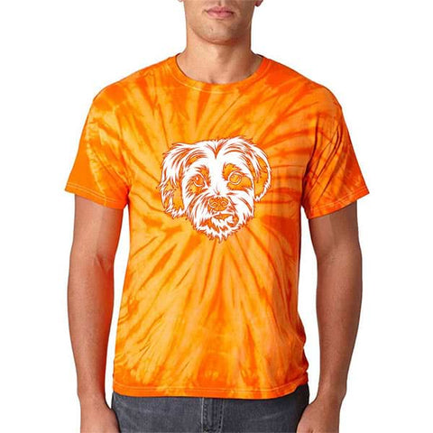 ▶ Unisex Pet Tie Dye T-shirt (White Art)