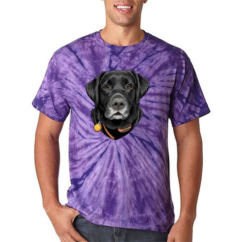 Image of ▶ Unisex Pet Tie Dye T-shirt (Color Art)